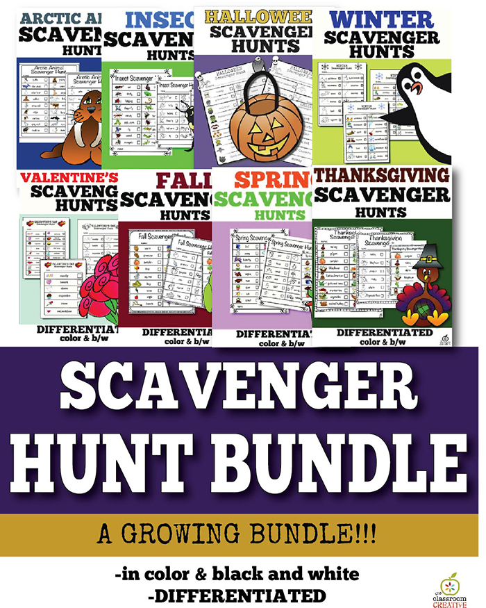 scavenger hunt ideas for the whole year
