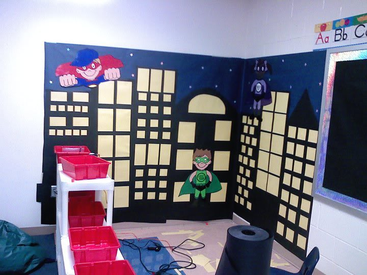Superhero Classroom Decor Printables ~ Imaginary play week superheroes crafts and activities