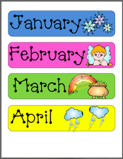 graphic about Free Preschool Calendar Printables known as Absolutely free Clroom Printables
