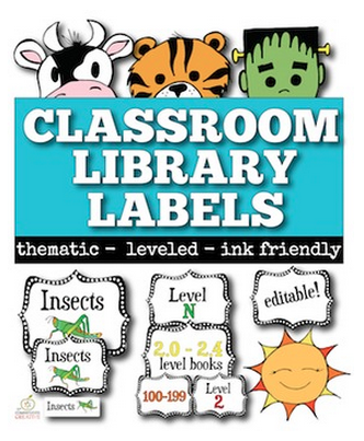 Classroom Library Labels with a Freebie!