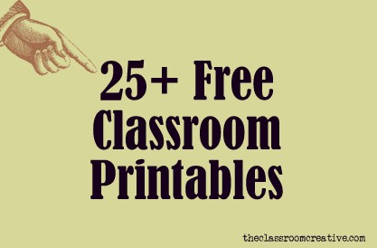 photo regarding Free Printable Classroom Posters named Free of charge Clroom Printables