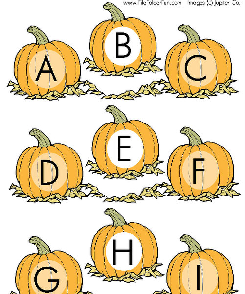 pumpkin file folder game