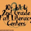 Fall Literacy Center Ideas for 1st and 2nd Grade