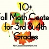 Fall Math Centers 3rd and 4th Grade