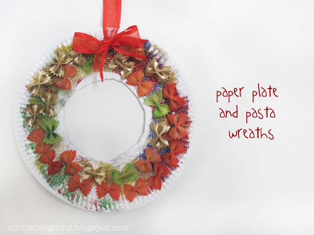 Classroom Wreath Ideas ~ Christmas wreath crafts for kids