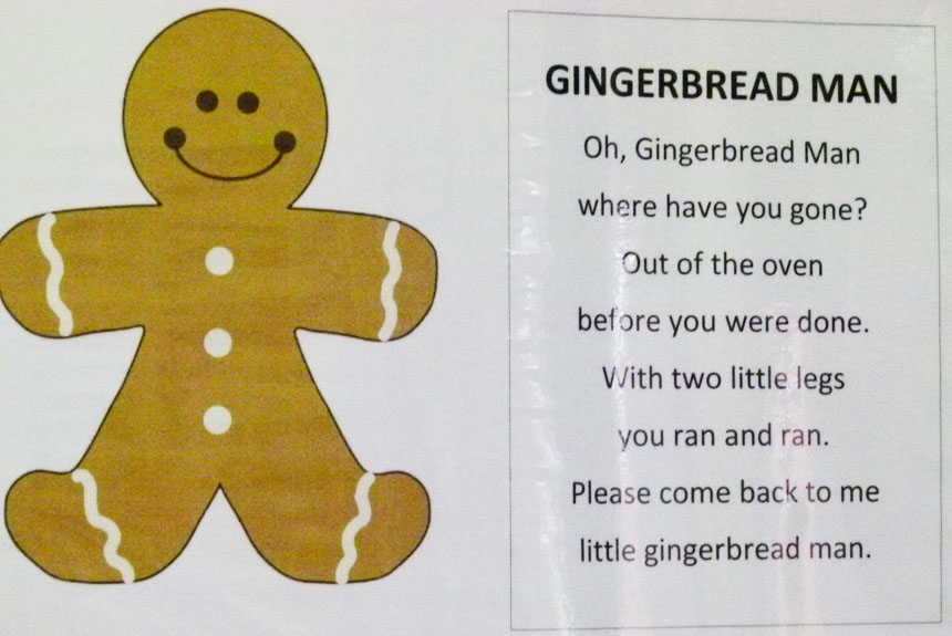 Gingerbread Poems Songs And Sequencing Cards
