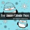 Free January Calendar Pieces