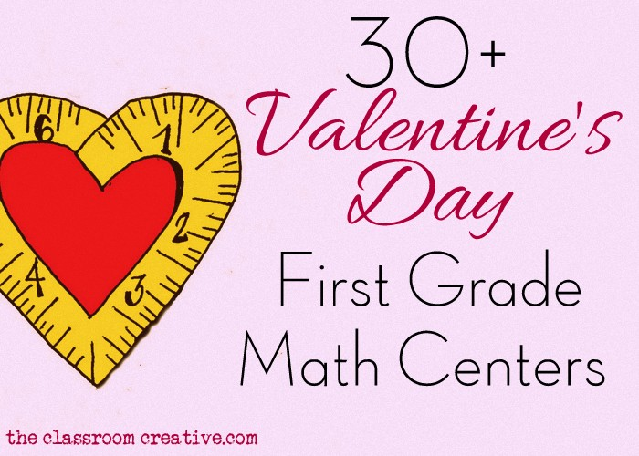 first grade math centers for valentine's day