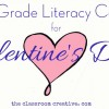 Second Grade Literacy Valentine's Day Centers & Resources