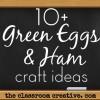 Dr. Seuss' Green Eggs & Ham Crafts