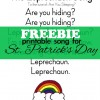 FREEBIE: St. Patrick's Day Song Printable