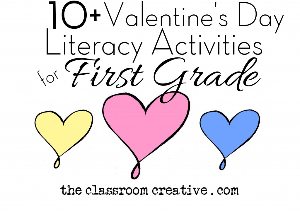 valentines day literacy activities for first grae