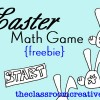 Easter Math Game {FREEBIE!}