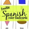 Spanish Color Words Flashcards {FREEBIE}