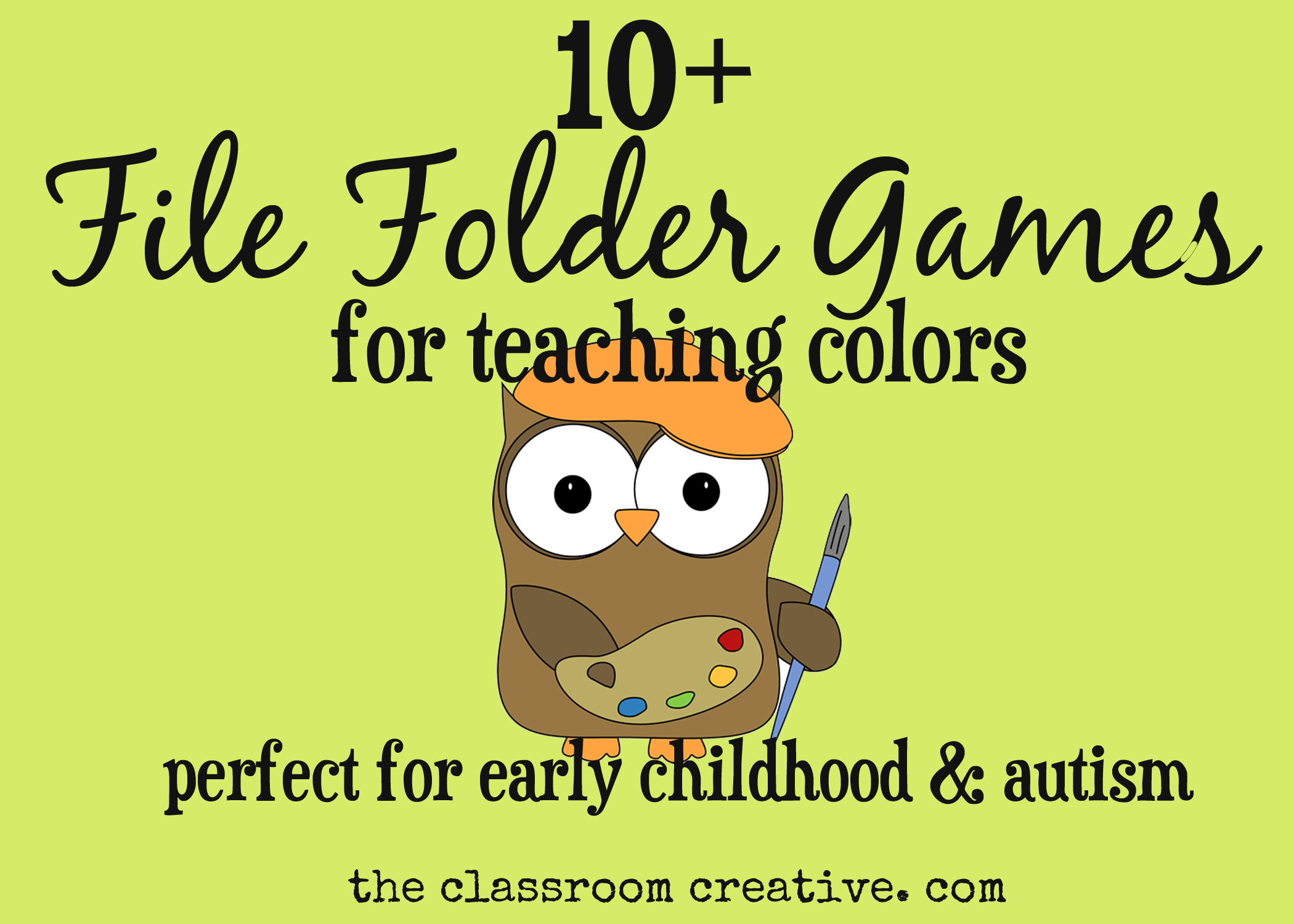 photograph regarding Printable File Folder Games known as Report Folder Game titles for Coaching Hues