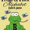 Alphabet Uppercase and Lowercase Match Game: Frogs & Flies
