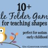 File Folder Games for Teaching Shapes