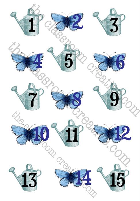 May calendar numbers, May calendar pieces