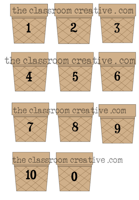 ice cream counting file folder game, lap book games for math