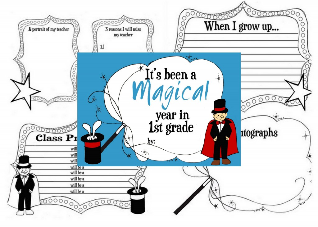 end of the school year printable memory book