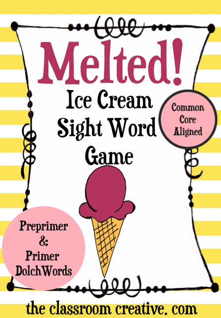 sight word games, ice cream sight word games activities ideas