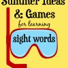 Summer Sight Word Ideas and Activities