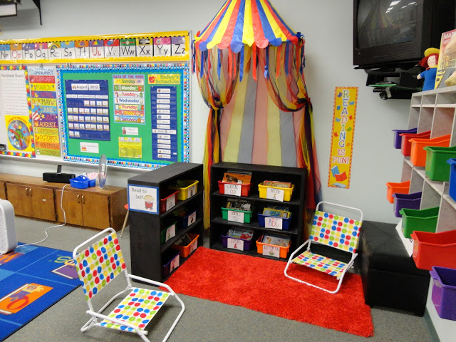 classroom reading nook, learning environments