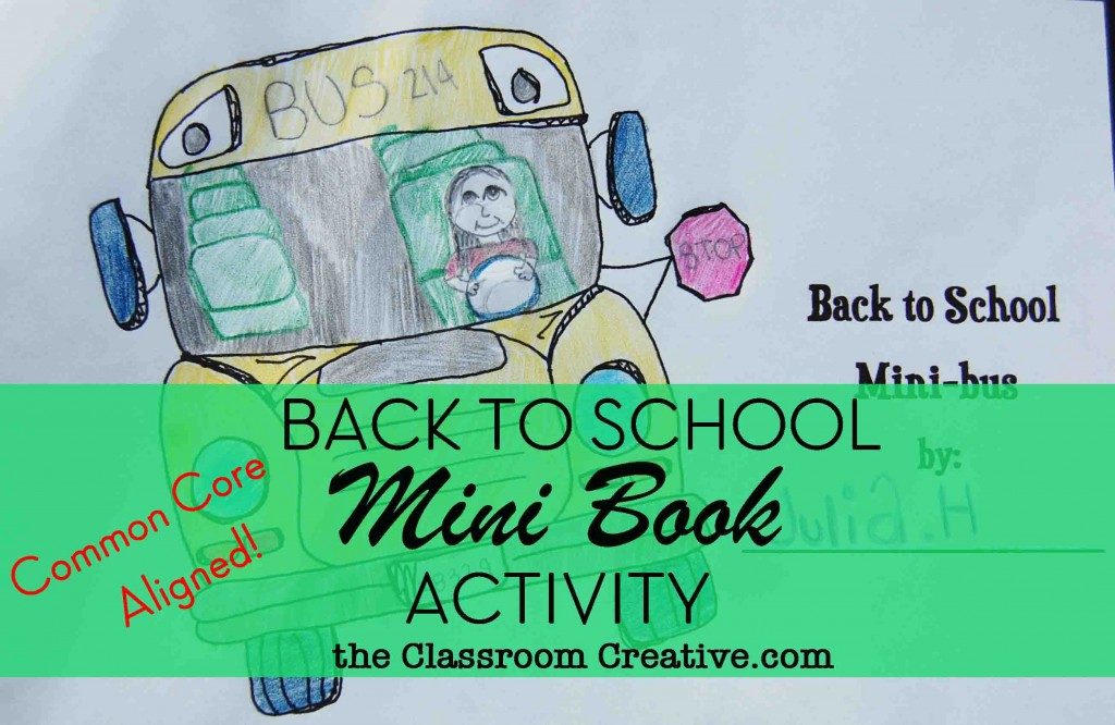 first day of school writing activity, back to school writing prompts, back to school mini-books, common core