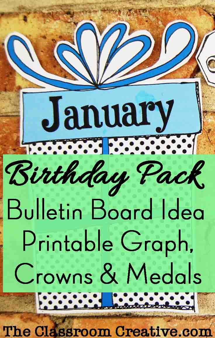Birthday Pack Bulletin Board Idea Graph Printable Crowns And Medals