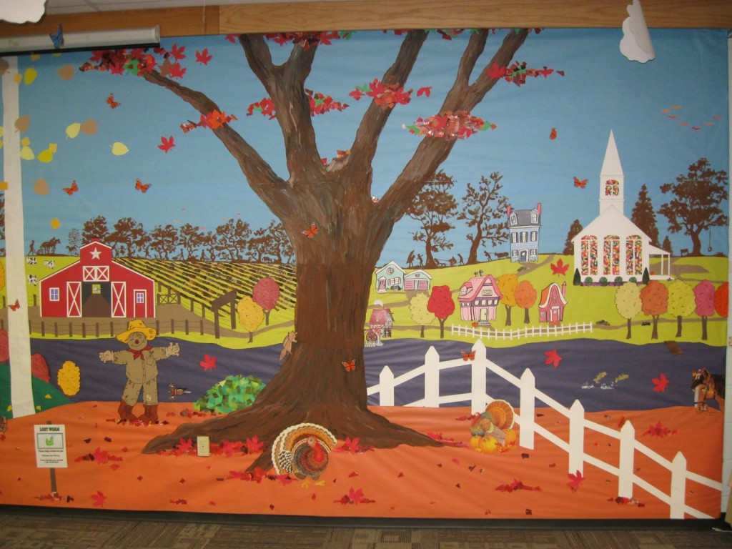 autumn bulletin board