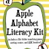 Apple Alphabet File Folder Game, Sorting Center, and Word Wall Headers