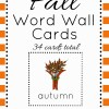 Fall Word Wall Cards {34 Hand Illustrated Images}