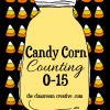 Free Printable Candy Corn Counting Center 0-15