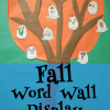 Fall Word Wall Interactive Display