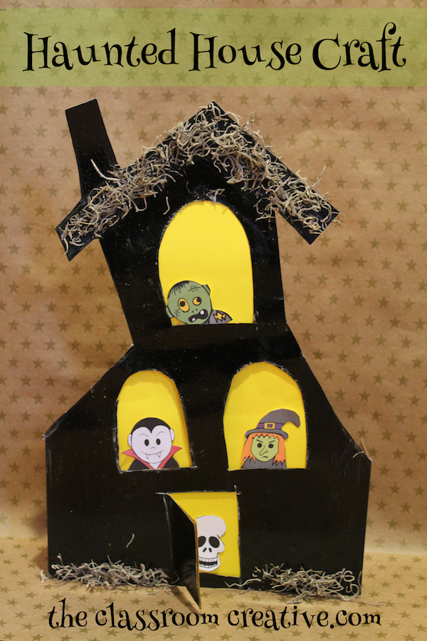 Cereal Or Gift Box Haunted House Craft For Kids