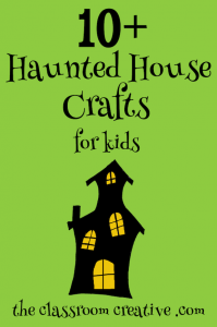 halloween crafts for kids, spooky house crafts for kids