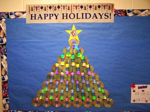 Christmas Board Design.Christmas Tree Bulletin Board Ideas