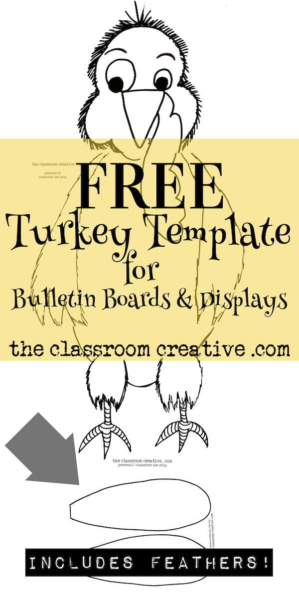 Free Printable Turkey Template For Bulletin Boards And Displays