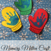 Memory Mitten Craft for Kids