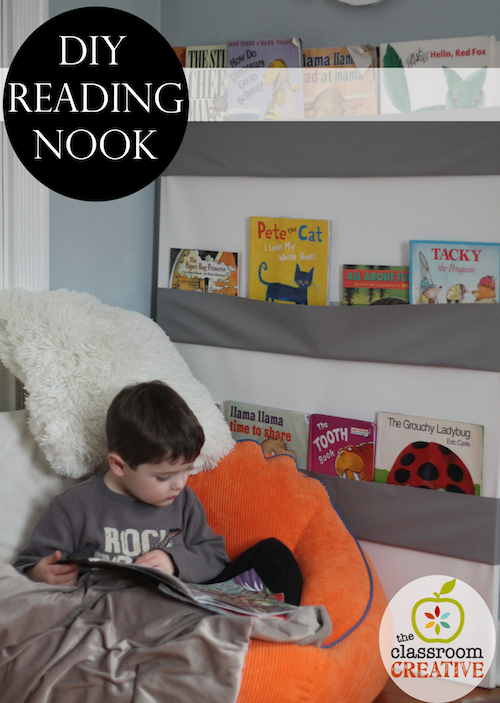 book nook idea, reading nook DIY