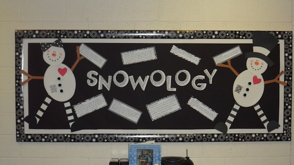 winter and snow bulletin board ideas