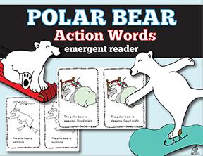 polar bear actions emergent reader
