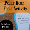 Free Polar Bear Paw Writing Prompt: Polar Bear Facts