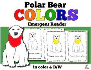 polar bear color words emergent reader www.theclassroomcreative.com