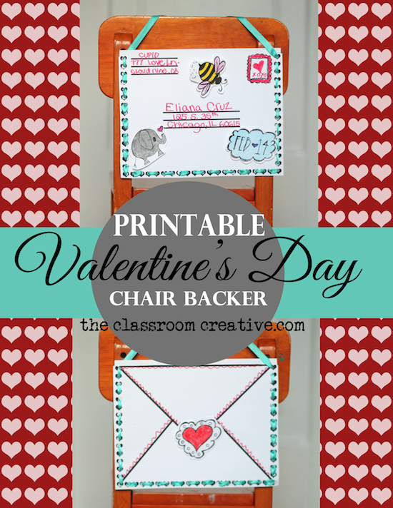 valentine's day mailbox craft, valentine's day chair backer craft, valentine's day class party ideas
