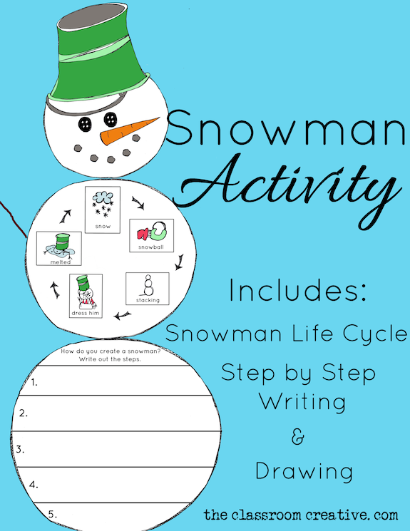 snowman activity life cycle craft