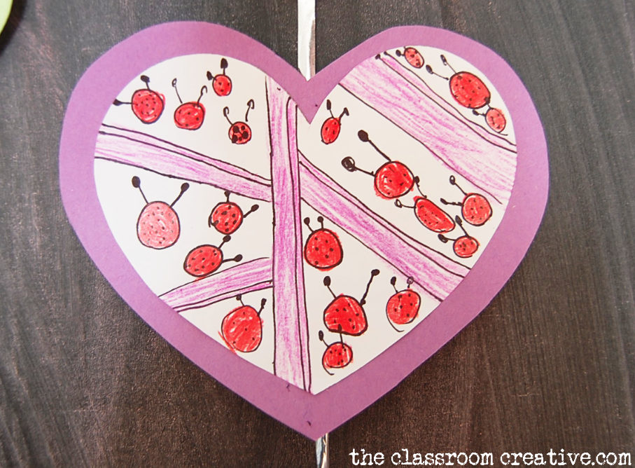 art with hearts valentine's day activity