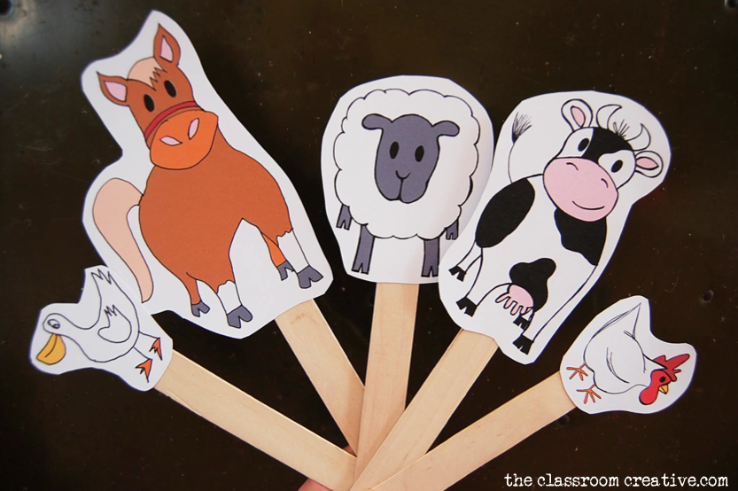 farm animals pretend paly printables