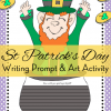 Bulletin Board Idea: St. Patrick's Day Art Activity with Writing Prompt