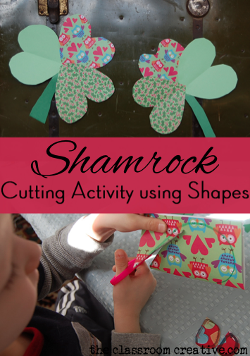 st Patrick's day fine motor activity using clovers shamrocks